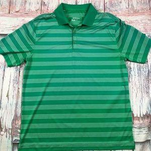 Nike Golf Dri-Fit Men's Green Striped Polo